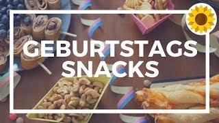 4 schnelle und gesunde Snacks zum Kindergeburtstag || Fingerfood ||  || Multimoms