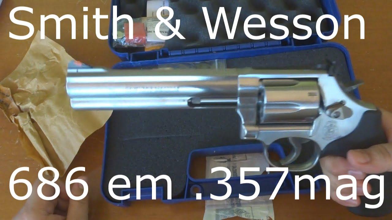 """Unboxing Da Smith & Wesson Em .357mag Com 6"""" De Cano"""