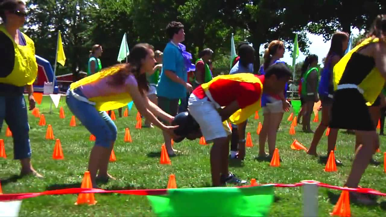 Copy of outrageous games corporate team building youtube - Team building swimming pool games ...