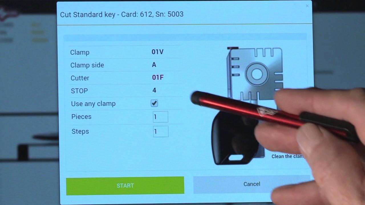 Silca Futura PRO 7 Cutting standard keys