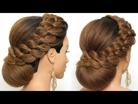 Stylish Wedding Prom Hairstyle For Long Hair Bride | Wedding Hairstyles | Best Wedding Hairstyle thumbnail