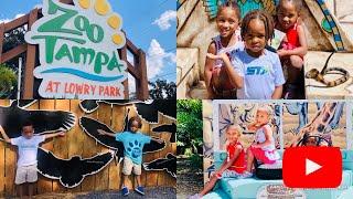 ZOO TAMPA AT LOWRY PARK ZOO!!| Ride The Roar | Kids Having Fun❤️