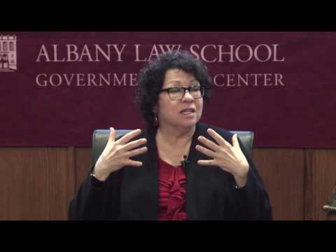 U.S. Supreme Court Associate Justice Sonia Sotomayor - Albany Law School Panel Discussion