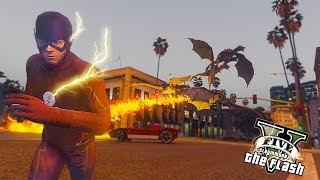 GTA 5 PC - The Flash Save Central City ! Dragons Invasion ! (Ultimate Flash Mod Gameplay)🏃🏽⚡️