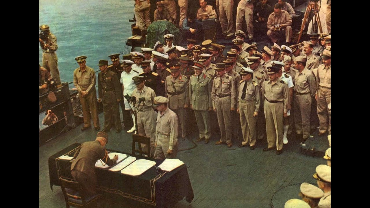 Japanese Surrender in HD Color 1945 YouTube