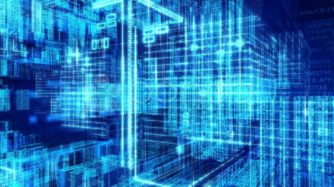 technology computer matrix digital grid