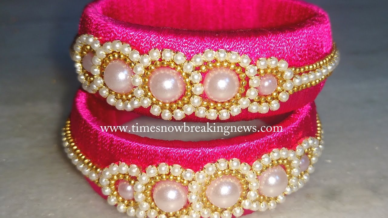 how to make silk thread bangles at home | silk thread bangles ...