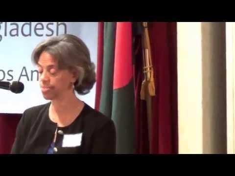 US Ambassador Bernicat with Bangladeshi-American's in Los Angeles