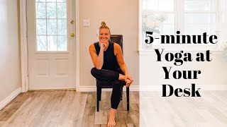 5-minute yoga at your desk with Brittany Bryden
