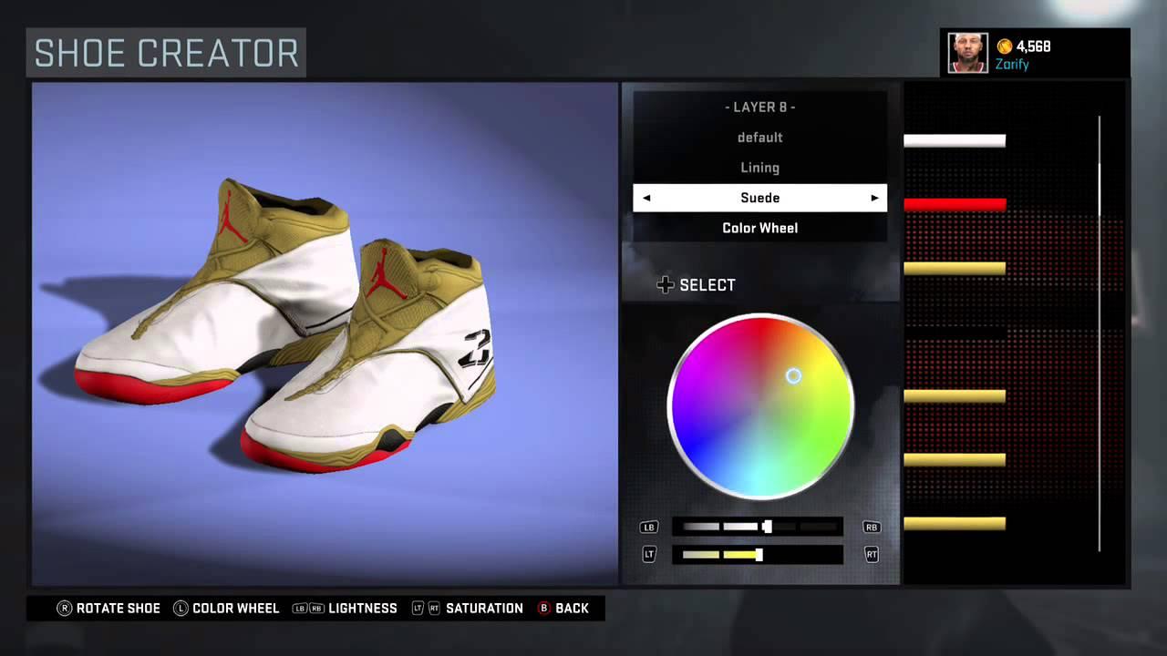 NBA 2K16 Shoe Creator
