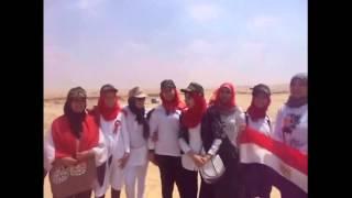 جروب مجندة مصرية فى قناة السويس الجديدة