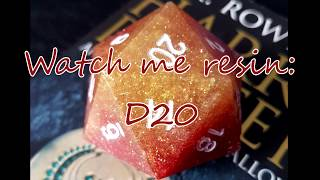 Watch me resin: Large D20 Harry Potter Hogwarts House inspired