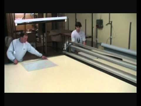 JPUJOL S420TA Banco de corte manual para cortinas  YouTube