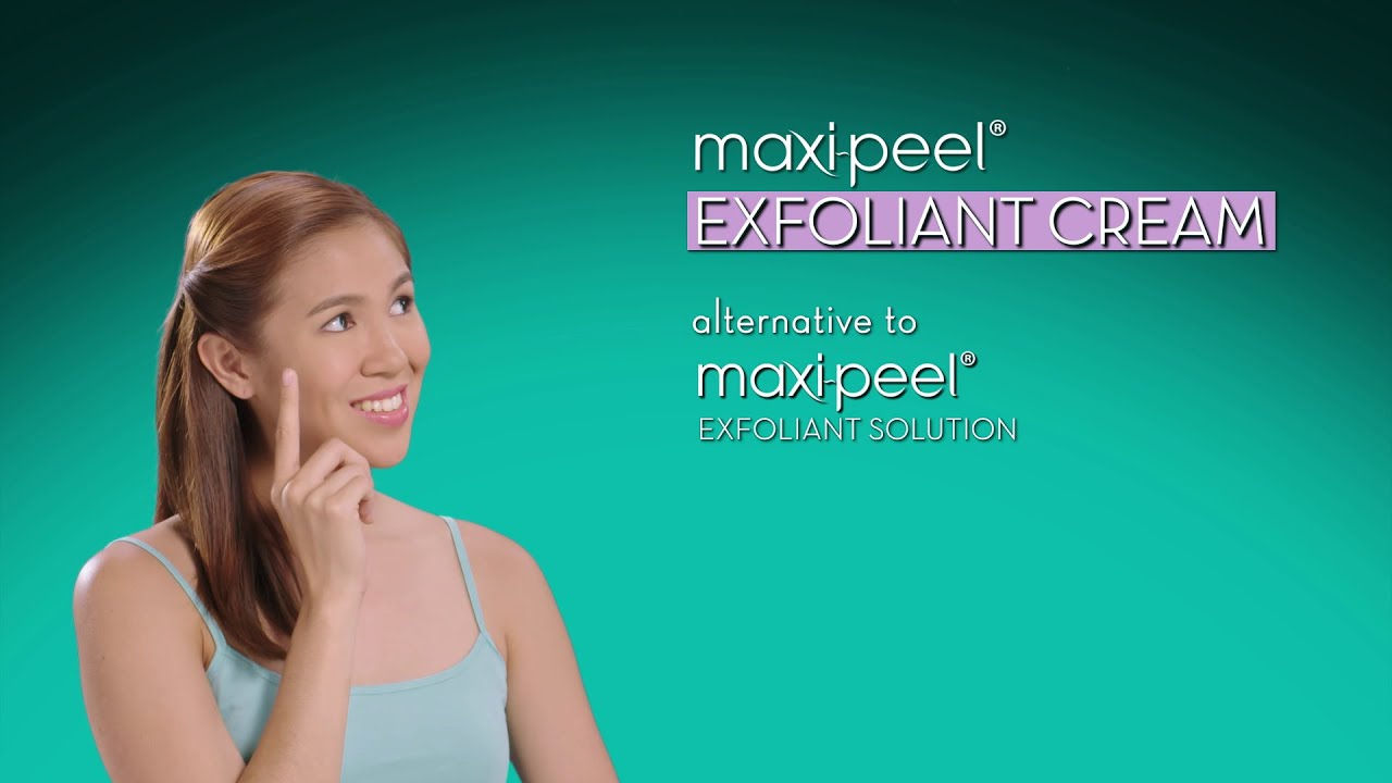 How To Exfoliate Without Visible Peeling With Maxipeel Exfoliant Cream   Youtube