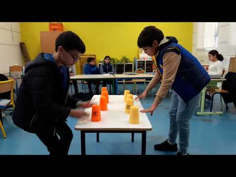 Stacking Cups. Andrè Chenier School.  Rabat