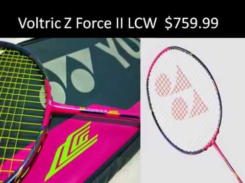 Top 5 Expensive Badminton rackets -2017 | Yonex - YouTube