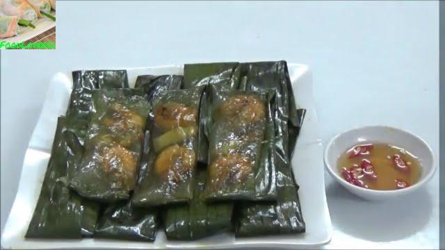 Vietnamese Clear Shrimp Pork Dumpling With Banana Leaves Youtube