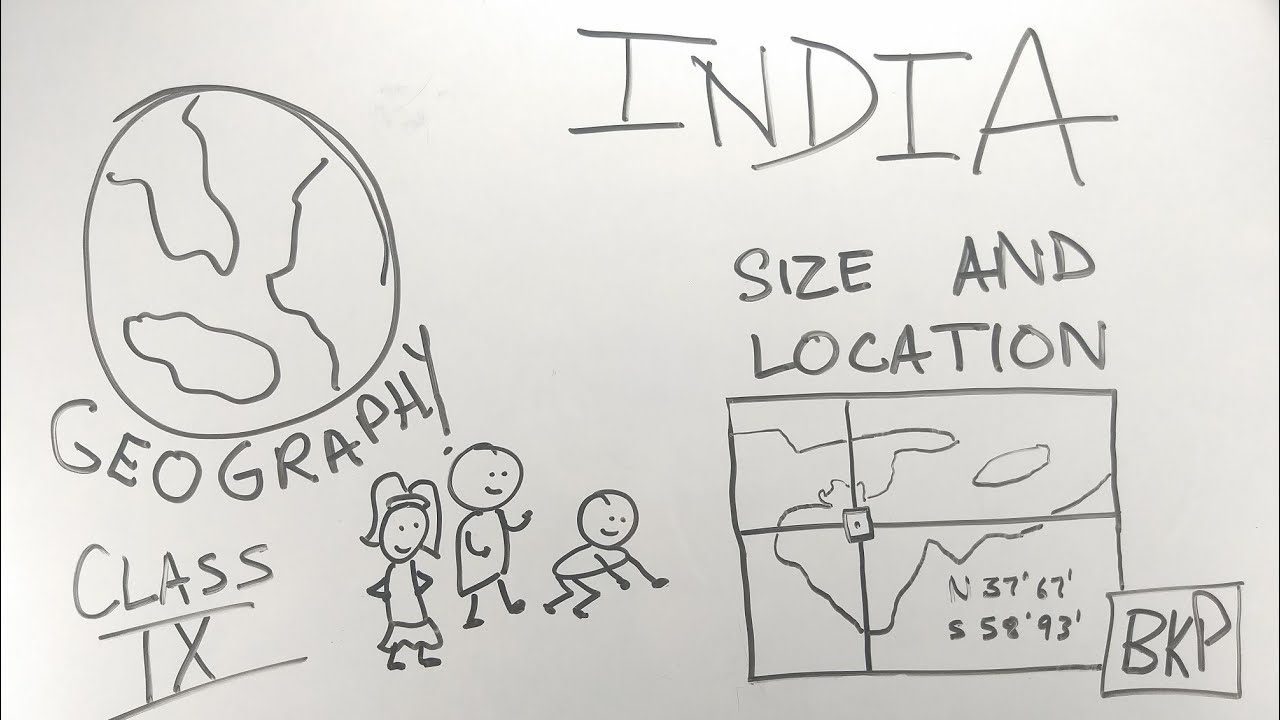 India Size And Location - ep01 - BKP | Class 9 geography chapter 1 full  explanation in hindi | CBSE