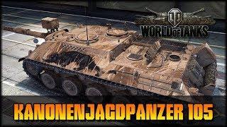 Kanonenjagdpanzer 105 - World of Tanks [ deutsch 🐄 gameplay ]