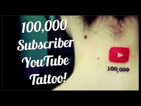100 000 Subscriber Youtube Dedication Tattoo Youtube Find new ideas for own videos, generate thousands of. 100 000 subscriber youtube dedication tattoo