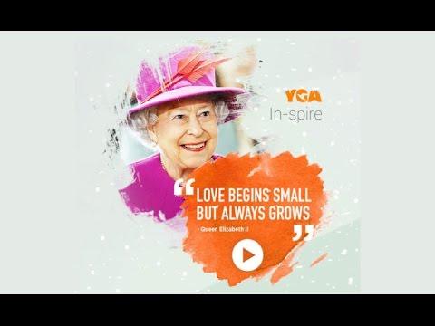 Love begins small but always grows. - Queen Elizabeth II