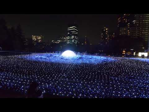 【4K】Rechecking Christmas illumination in Roppongi and on the way to Tokyo tower.