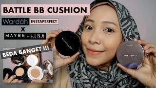 BATTLE BB CUSHION WARDAH INSTAPERFECT VS MAYBELLINE SUPER CUSHION
