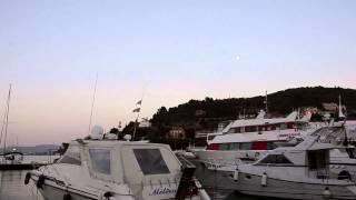 Porto Santo Stefano e il tramonto sulla laguna