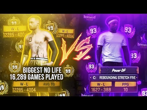 16,000 GAMES PLAYED! THE BIGGEST 99 OVERALL NO LIFE IN 2K HISTORY VS POWER DF!