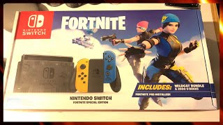 New Fortnite Special Edition Nintendo Switch Unboxing (Wildcat Bundle review)