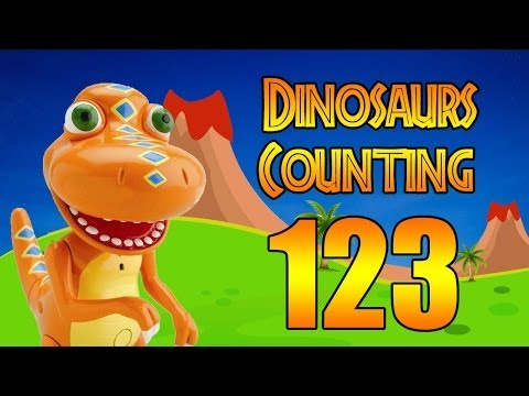 Counting to 10 with dinosaur toys numbers 123 videos for children toddlers song