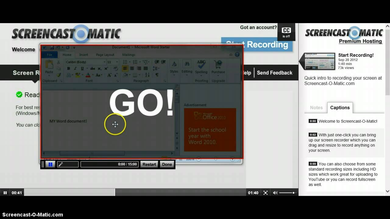 Free screen recorder! No download! - YouTube