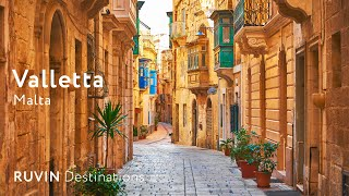 Valletta | Malta | Walking Tour in 4K [2019]