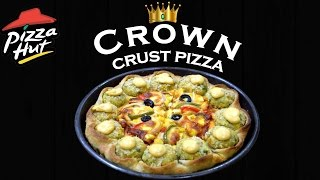 Make veg Crown Crust Pizza like Pizza Hut at home| Veg Kebab Crown Pizza| Simply yummylicious