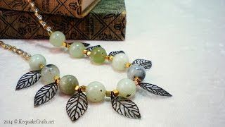 How To Make Leafy Green Serpentine Beads Necklace