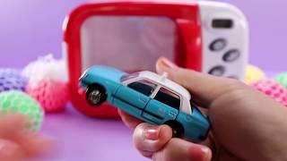 마법 전자렌지 컬러 에그 알까기 장난감 미니 자동차 놀…