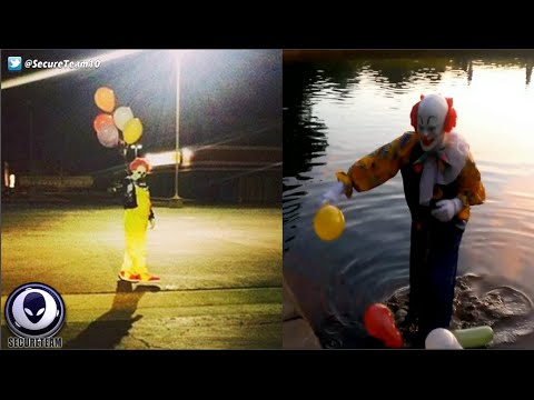 CREEPY! Mysterious Phantom Clown Sightings Uncovered 9/24/16