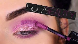 Does It Work?? NEW Huda Beauty Matte & Metal Liquid Eyeshadow Review