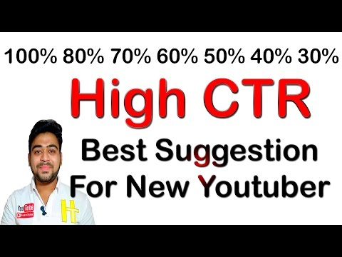 High CTR | Save Adsense Account | Suggestion For New Youtubers | Hindi