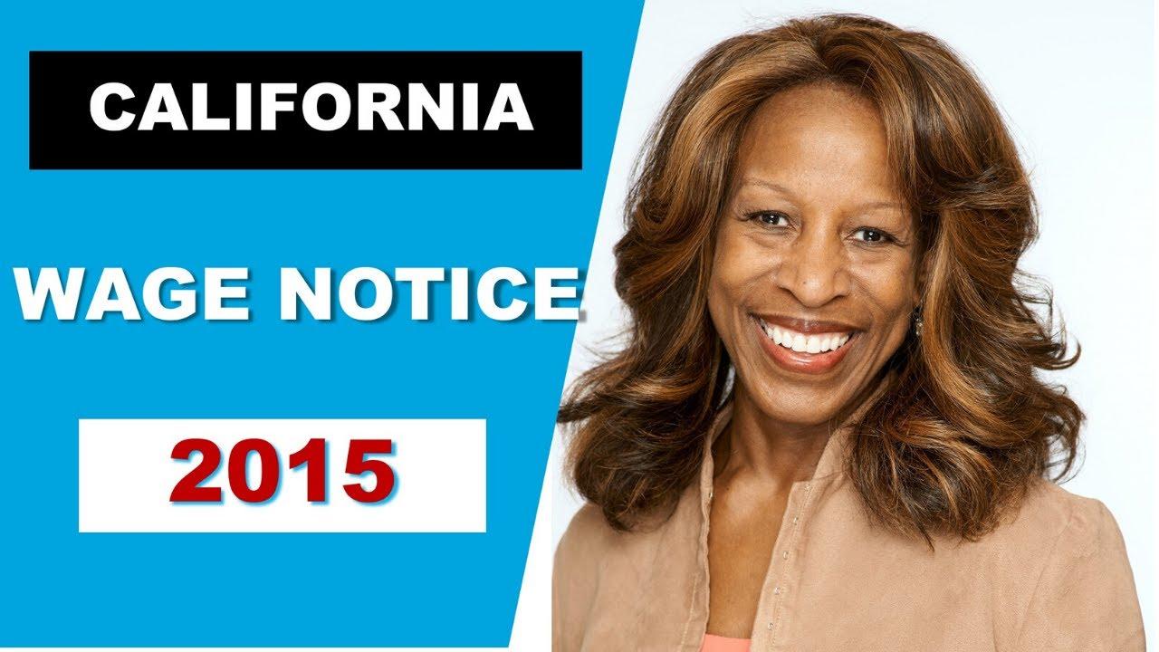 California Wage Notice 2015 Youtube