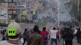 Choques en Honduras durante la toma de posesión de Hernández