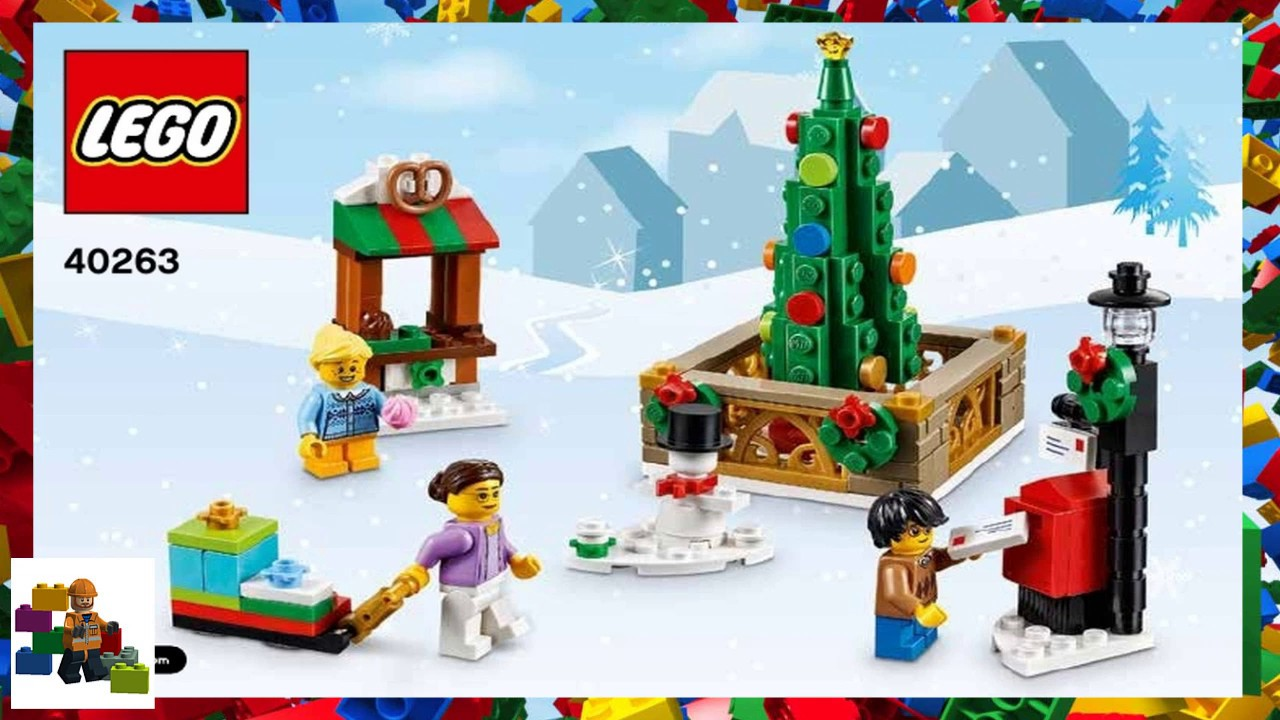 Lego Instructions Seasonal 40263 Christmas Town Square Youtube