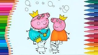 Peppa Pig | Boyamalar | Boyama Kitabı | Rainbow Boyama Videoları | Boyama Sayfas