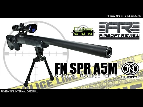 ✔  FN HERSTAL SPR A5M # NON UPGRADEE [ CYBERGUN ] / AIRSOFT REVIEW ✔