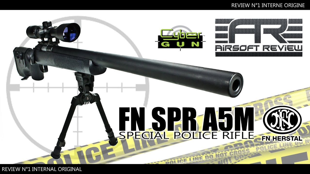 Download ✔  FN HERSTAL SPR A5M # NON UPGRADEE [ CYBERGUN ] / AIRSOFT REVIEW ✔