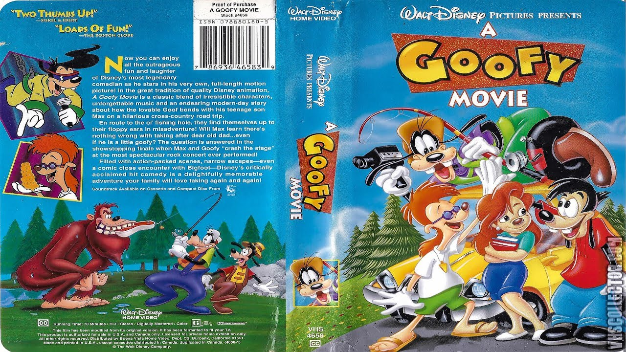 opening to a goofy movie 1995 vhs