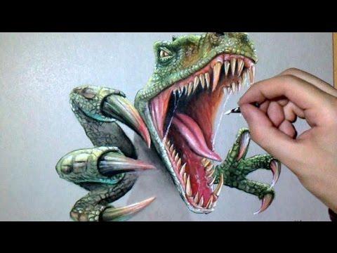 Dessin Réaliste Dinosaure Raptor Youtube