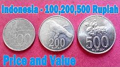 100 Rupiah, 200 Rupiah, 500 Rupiah, Indonesia