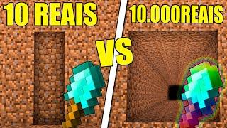 PÁ DE 10 REAIS OU DE 10.000 REAIS NO MINECRAFT? (QUAL É MELHOR?)