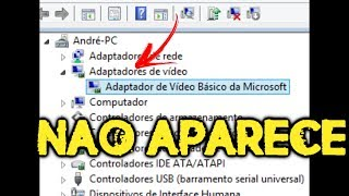 Windows nao Reconhece placa de video no hardware Windows 7/8/10 TUTORIAL